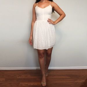 Bar III white cocktail dress